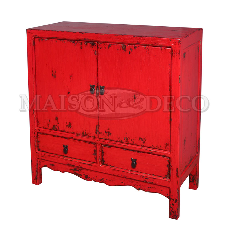 Sbs 631 polos rustic low cabinet maison et deco for Furniture yogyakarta