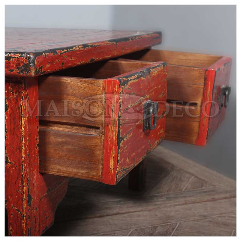 Sbs 171 m aping rustic wood coffee table maison et for Furniture yogyakarta
