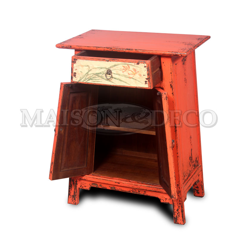Wooden furniture sbs 589 p bedside trapest high with for Furniture yogyakarta