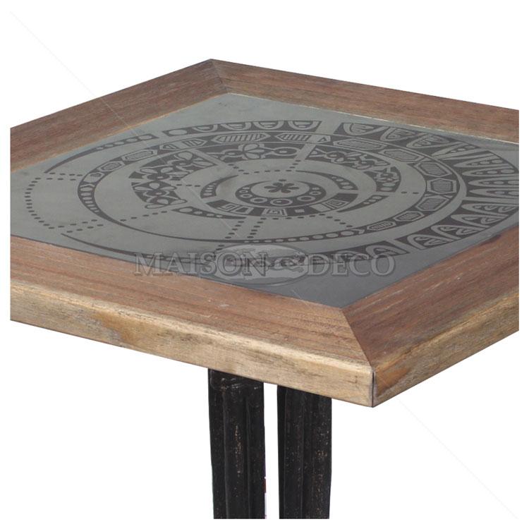 Tempo bar table with iron legs maison et deco factory for Deco maison trackid sp 006